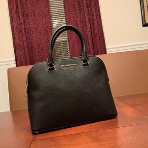 Michael Kors Cindy Large Dome Satchel Bag, Black